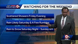 First Alert: Thursday will be in 40s; Chance for snow this weekend