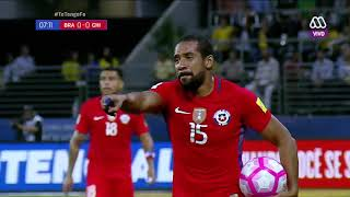 Brasil vs Chile partido completo HD Parte 1/2