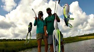 Husband vs. Wife Topwater Fishing Challenge - BamaBass Duel