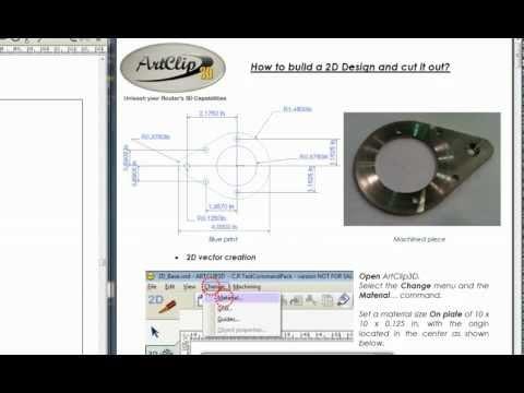 CNC Machining ArtClip3D - How to build a 2D Design and cut it out?