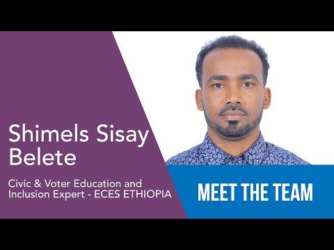 Shimels Sisay Belete - Esperto di Educazione ed Inclusione Civica e del Voto ETIOPIA