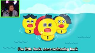 Boramy | Five Little Ducks song | Nursery Rhymes with Reaction