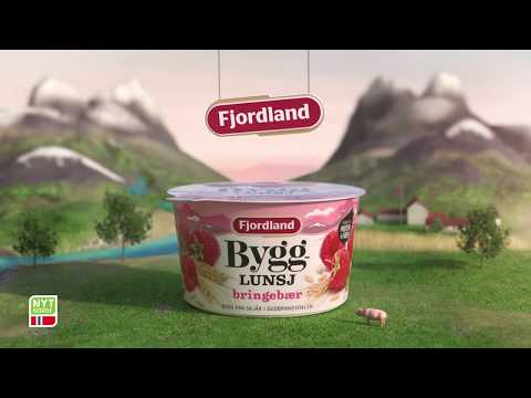 Nytt design! Fjordland Bygglunsj bringebær