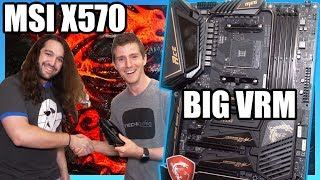 MSI X570 Motherboards for Ryzen 3000: Big VRM Designs for 16 Cores