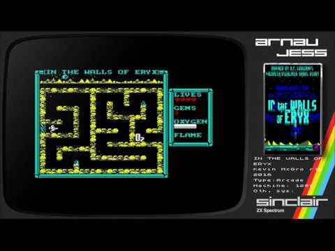 IN THE WALLS OF ERYX Zx Spectrum by Kevin McGrorty