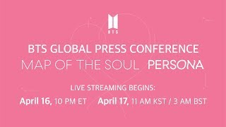 BTS Global Press Conference 'MAP OF THE SOUL : PERSONA'