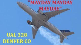 """""""MAYDAY, MAYDAY, MAYDAY"""" UAL 328 B-777 200 20FEB 2021"""