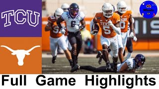 TCU vs #9 Texas Highlights | College Football Week 5 | 2020 College Football Highlights
