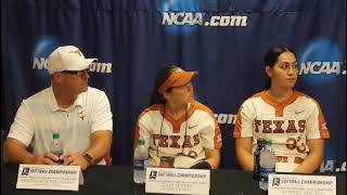 Texas Softball Following Their 7-5 Win over Alabama