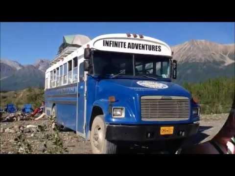 Alaska in a converted school bus