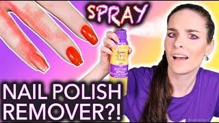 WTF Spray Nail Polish Remover?! *do not breathe*