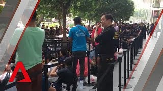 New iPhone launch: Hundreds queue outside Apple store at Orchard Road in Singapore