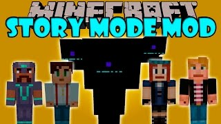 MINECRAFT STORY MODE MOD - Wither gigante, Jesse, Petra y mas! - Minecraft mod 1.8 Review ESPAÑOL