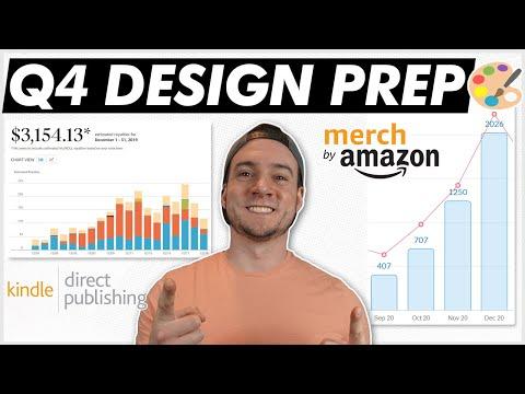 PREPARING DESIGNS FOR Q4 SALES RUSH! [Amazon Merch + KDP]