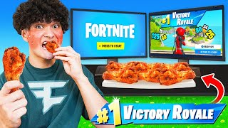 Every Elimination I Eat a Spicier Wing in Fortnite
