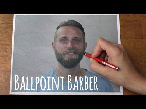 Modeluje brodę... ołówkiem!