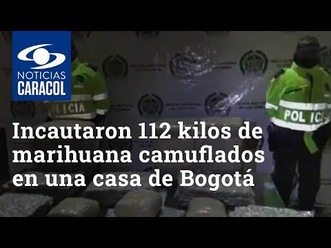 Incautaron 112 kilos de marihuana que estaban camuflados en una casa de Bogotá