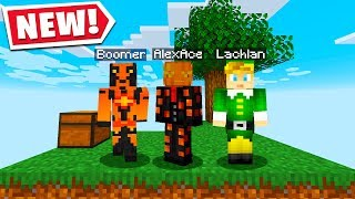 So We Tried Minecraft Skyblock.. Ft. Lachlan & Boomer