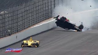Patricio O'Ward Crash 2019 Indy 500 Practice