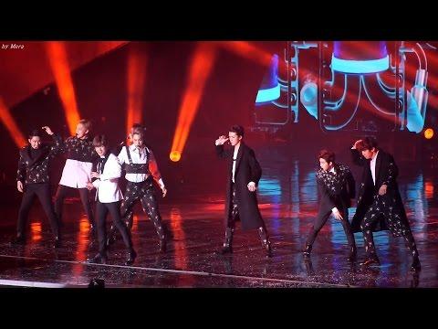 161226 엑소 (EXO) - Monster (몬스터) 음향사고 당황하는 멤버들 [전체] 직캠 Fancam (2016 가요대전) by Mera