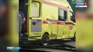 Авария с участием машины скорой помощи произошла сегодня на Красном Пути