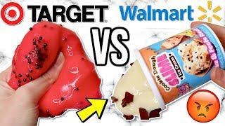 WALMART VS TARGET SLIMES! Is It Worth It?!