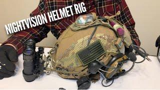 AB Night Vision RNVG's on Team Wendy EXFIL Helmet w/ Peltor ComTac IV's, S&S Strobes, etc.
