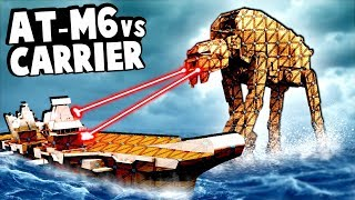 AT-M6 Walker Tries to Destroy a US Aircraft Carrier in Forts Star Wars!