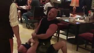 Matt Serra subdues drunk guy who harassed waitress in Las Vegas surrounding ufc 226 & hof induction