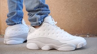competitive price 79a3f ff474 Air Jordan 13 Low Pure Platinum Pure Money Review On Feet ...
