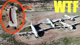 you will not believe what my drone spotted in this abandoned haunted airport (plane crash site)