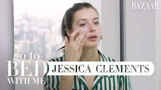 Model Jessica Clements' Nighttime Skincare Routine   Go To Bed With Me   Harper's BAZAAR