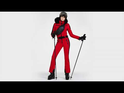 Goldbergh Empress Womens Ski Jumpsuit in Lava - Saga Fur Trim