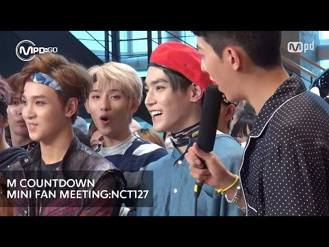 엔씨티127 미니팬미팅 NCT127 MINI FAN MEETING Mnet MCOUNTDOWN 160728