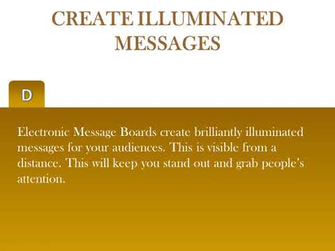 5 Reasons For Using Electronic Message Boards