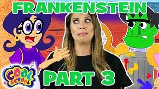 💚⚡FRANKENSTEIN 💚⚡Part 3⚡Story Time with Ms. Booksy ⚡Cartoons for Kids
