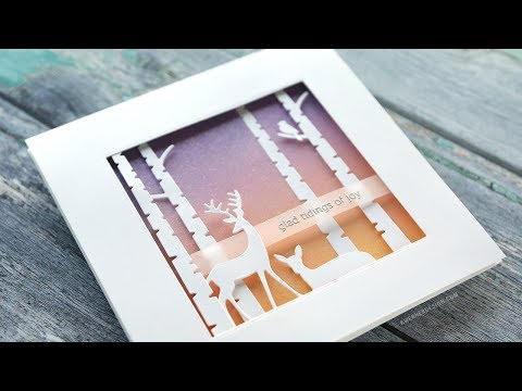 Holiday Card Series 2018 – Day 17 – Peaceful Scene Building with Die Cuts