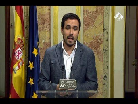 Reacción de Alberto Garzón al discurso de Rajoy, 26 octubre 2016