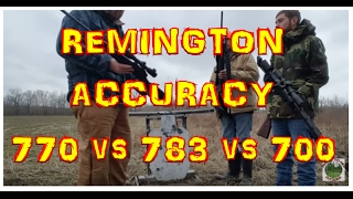 Just CAN'T buy ACCU-RACY: (.308) Remington 770 vs 783 vs 700 at 500yd