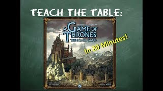 How to play A Game of Thrones: The Board Game (Second Edition) in 20 minutes