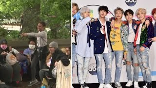BTS Fans  Camp Out For May 15th GMA Concert