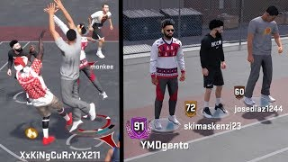 PLAYING WITH NEGATIVE RECORD RANDOMS AT THE PARK(GONE WRONG) NBA 2k18 Playground