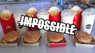"The ""Impossible"" Big Mac Challenge DESTROYED"