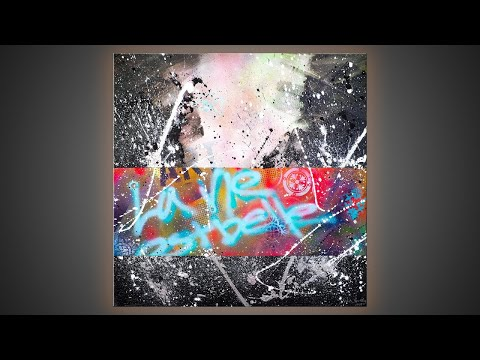 ABSTRACT PAINTING DEMO and is painting my ONLY job? | La Vie Est Belle