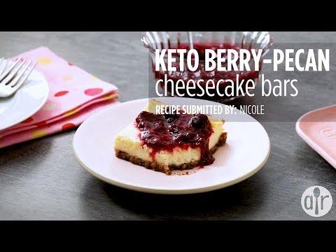 How to Make Keto Berry-Pecan Cheesecake Bars | Dessert Recipes | Allrecipes.com
