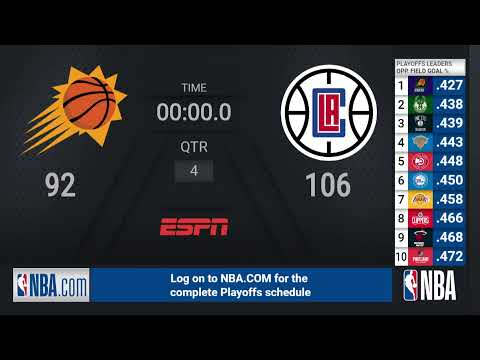 Suns @ Clippers WCF Game 3   NBA Playoffs on ESPN Live Scoreboard