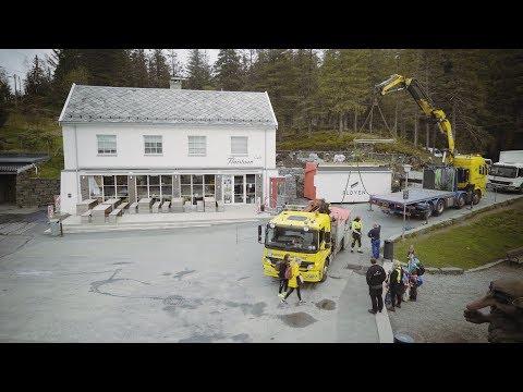 Isbarkompaniet leverer isbar til Fløyen