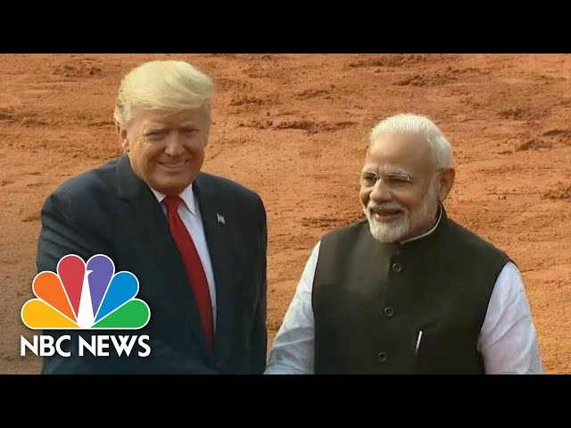 President Trump Holds Talks With Prime Minister Modi Of India | NBC News (Live Stream Recording)