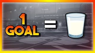 Rocket League but every time I get scored on I drink a glass of milk...