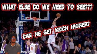 KRISTAPS PORZINGIS IT TOYING AROUND!! 34 PTS IN 3 QUARTRERS VS KINGS SUPERSTAR!! [REACTION[